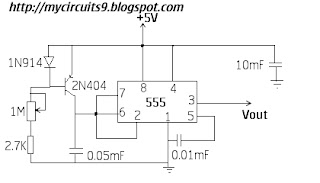 simple ramp generator circuit using 555 my circuits 9 rh mycircuits9 com Ramp Amplifier Circuits Retriggerable Ramp Generator Circuit
