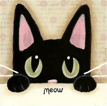 Acrylic Painting Ideas Black Cat