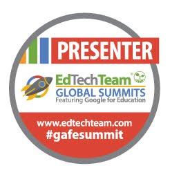 A presenter at the EdTechTeam Summits SA 2013-2017