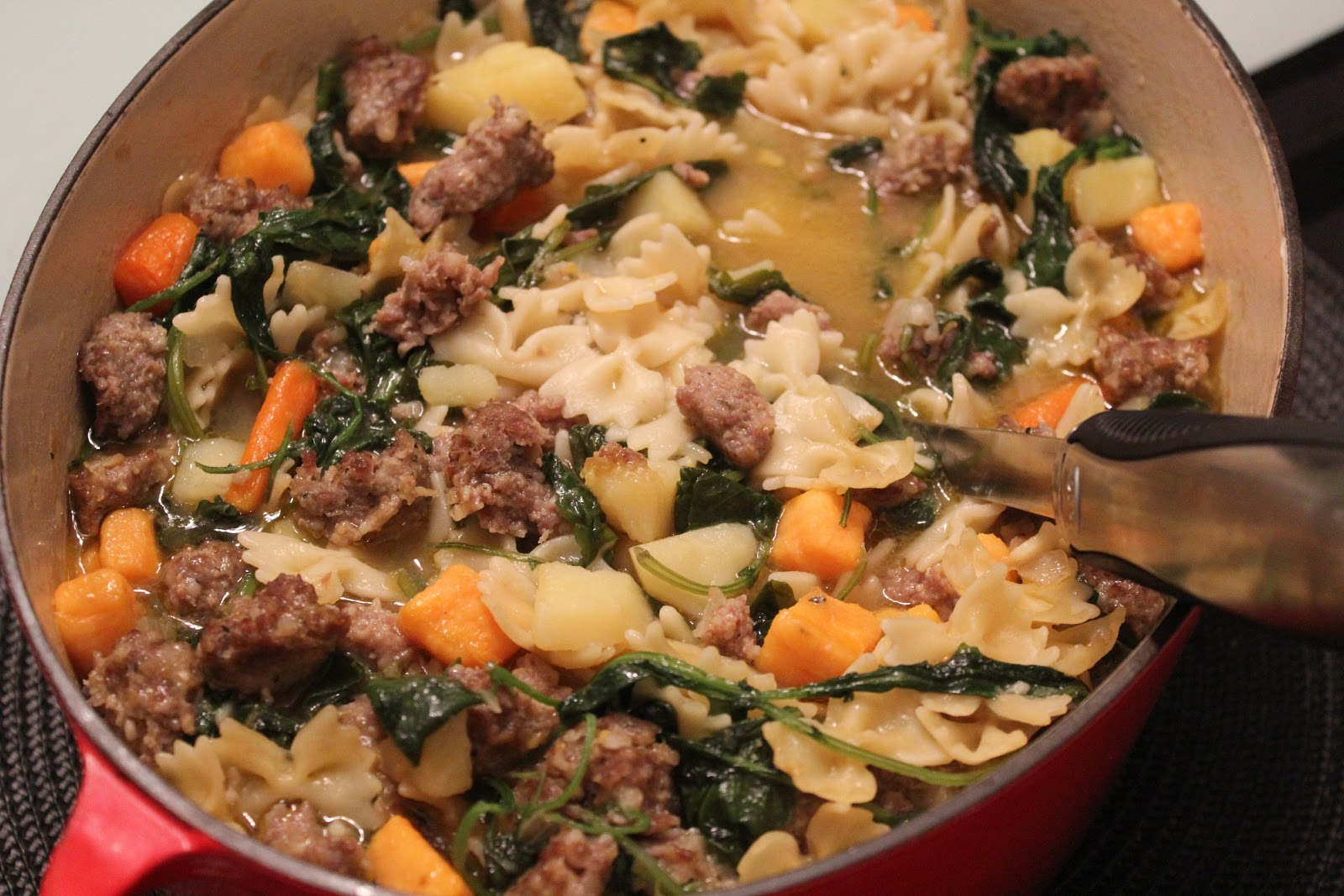 Delicious Dishings: Italian Sausage, Potato, And Kale Soup