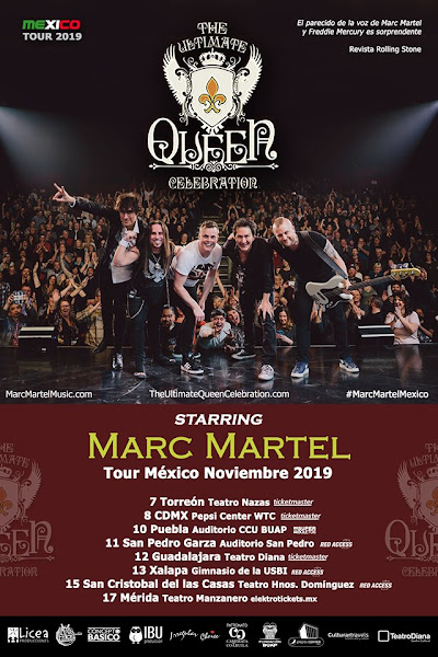 MARC MARTEL y The Ultimate Queen Celebration 5-17 Noviembre ticketmaster redacces elektrotickets