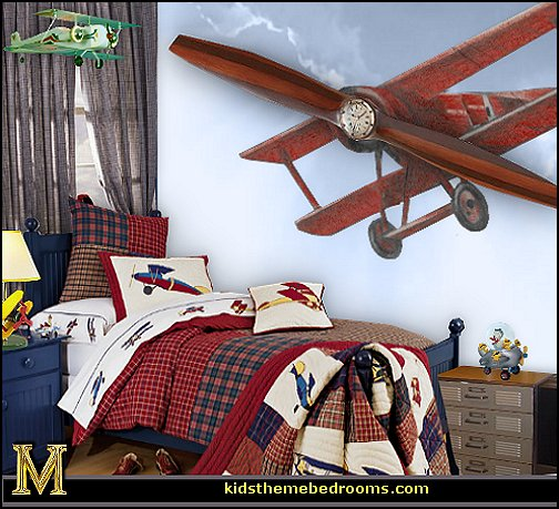 Decorating theme bedrooms maries manor airplane bed for Aviation decoration ideas
