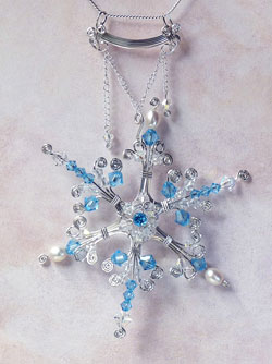 Bead and Wire Snowflake Jewelry Tutorials - The Beading Gem\'s Journal