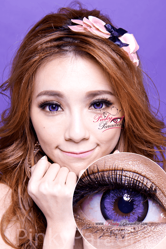 G&G Blossom Violet Circle Lenses (Colored Contacts)