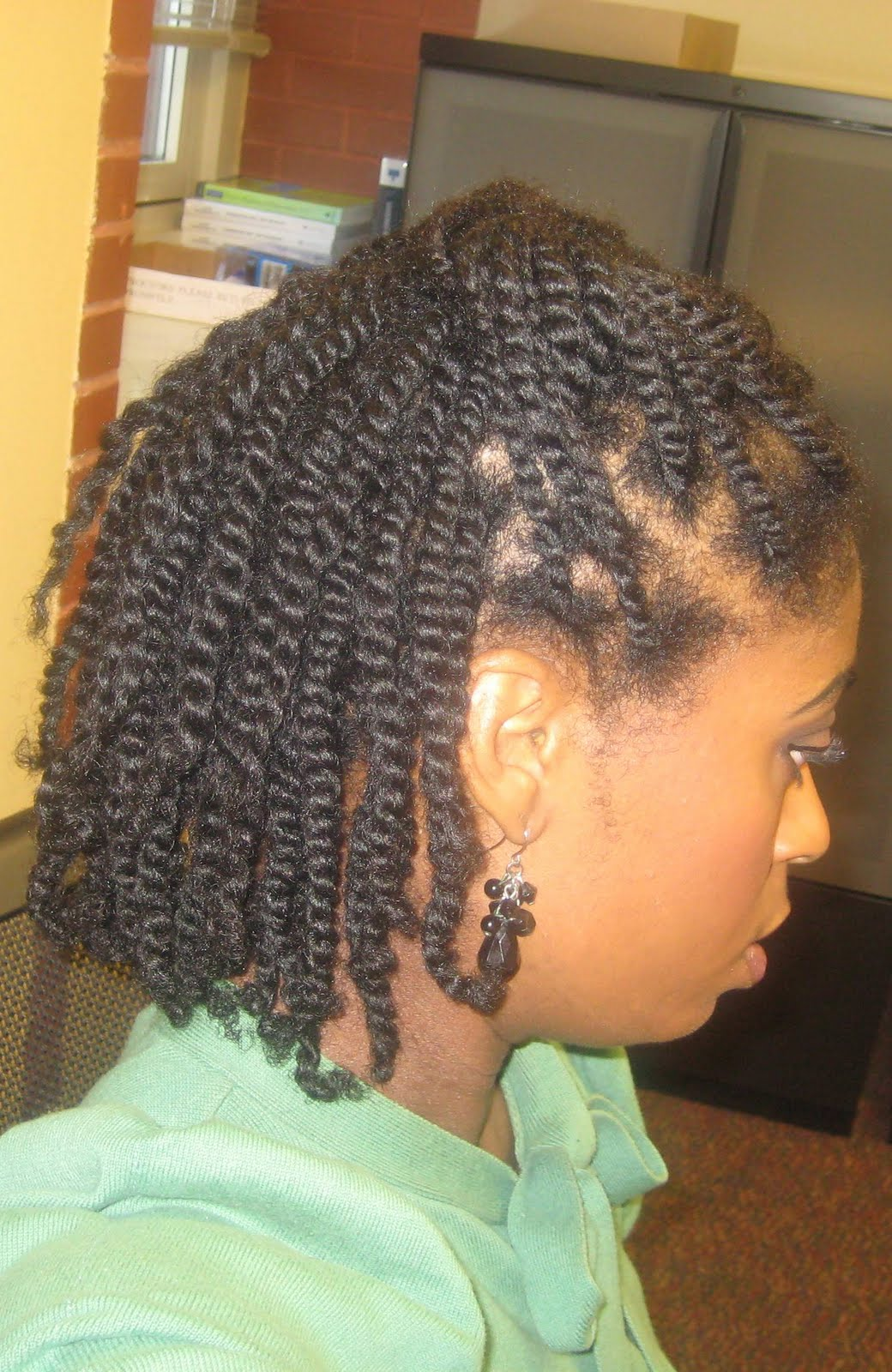 2 tone hairstyles : Naturally Elegant: Hair Today: Two-Strand Twists