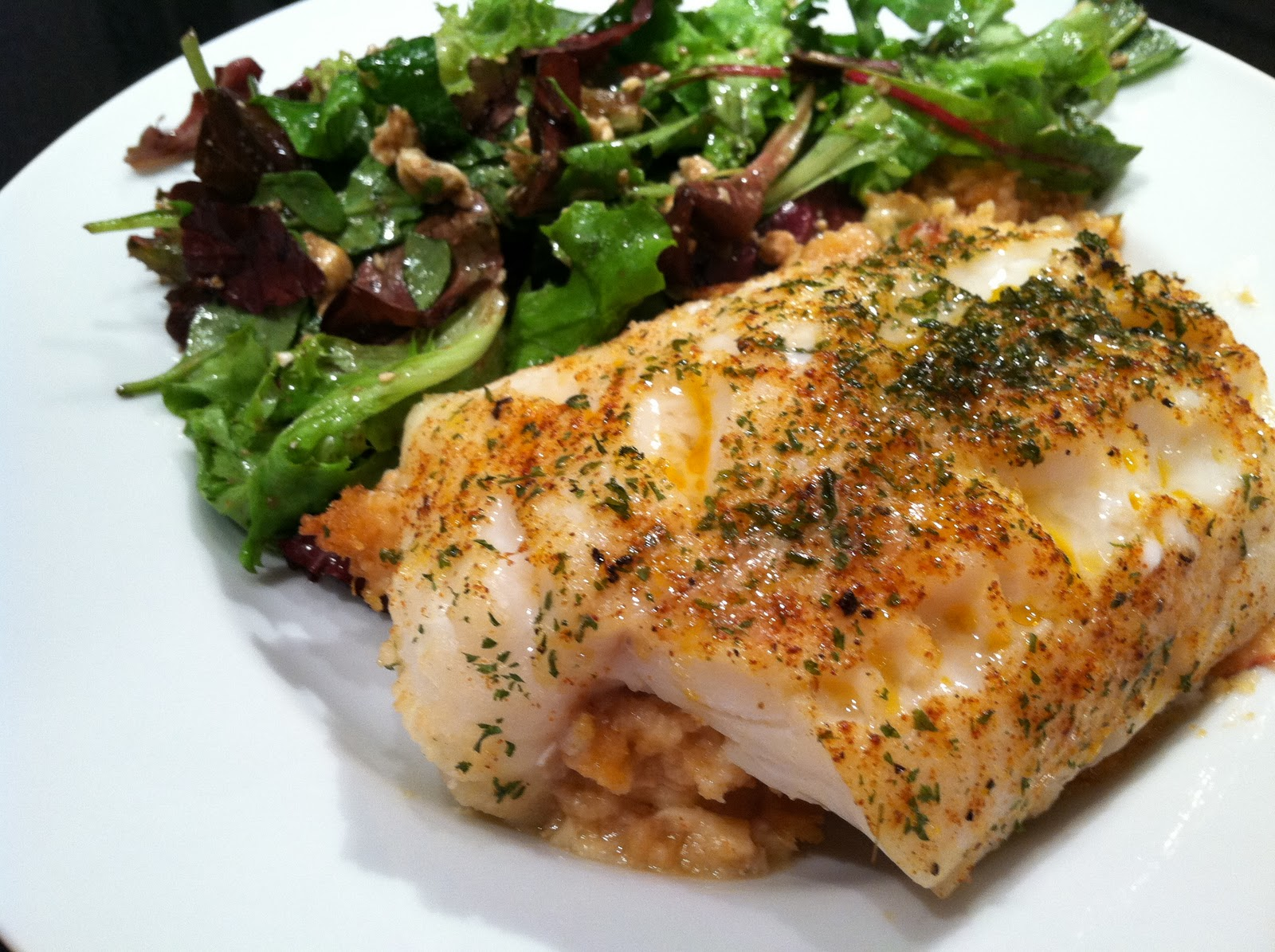 Everything tasty from my kitchen baked scrod with for Stuffed fish with crab meat