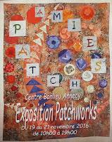 Exposition Patchwork à Annecy du 19 aau 21 novembre