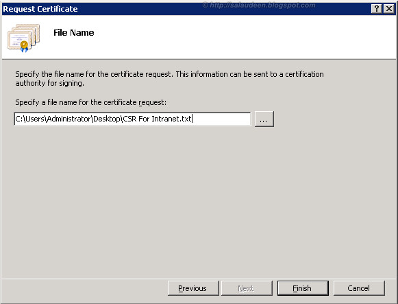 sharepoint 2010 ssl certificate request