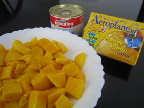芒果布甸材料  Mango Pudding Ingredients