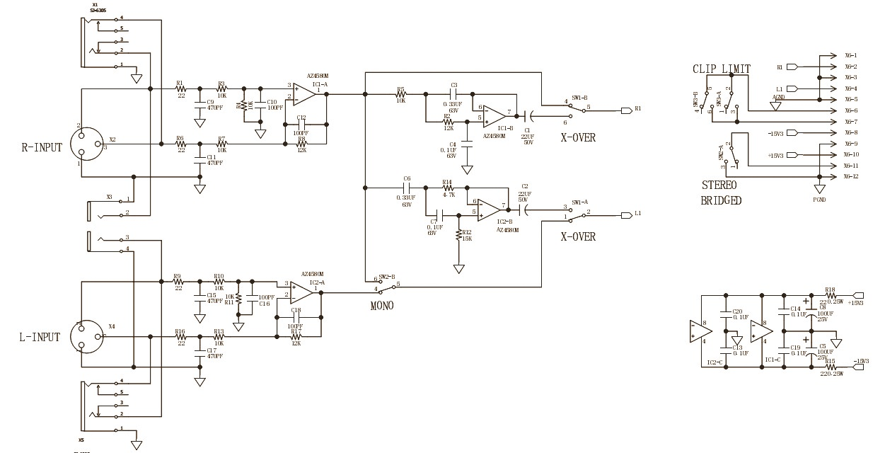 behringer epx 3000 - amplifier circuit diagram | schematic ... harmony amp schematic