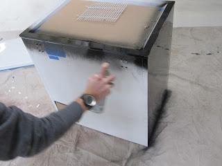 Spray Painting Ice Chest