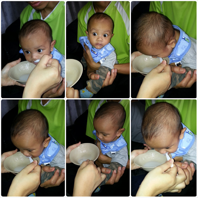 First Solid Food for Baby Fattah Anas