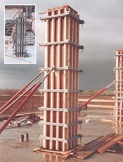 Formaleta en la Construcción de una columna de concreto