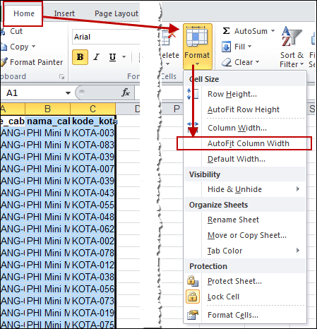 Menggunakan auto fit pada excel 2010 anselez corp for Table th width auto