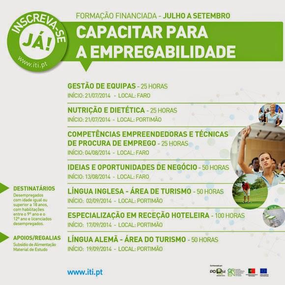 Formação financiada em Faro e Portimão