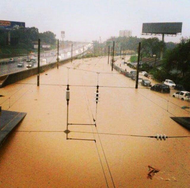 Berita Terkini Ribut Dan Banjir Di Shah Alam & Putrajaya 12 Mei 2015