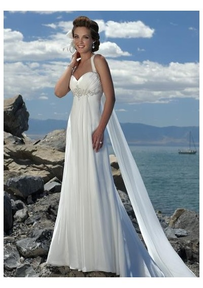 strapless beach wedding dresses