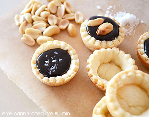 how to make simple ganche tarts, recipe for chocolate ganache tarts