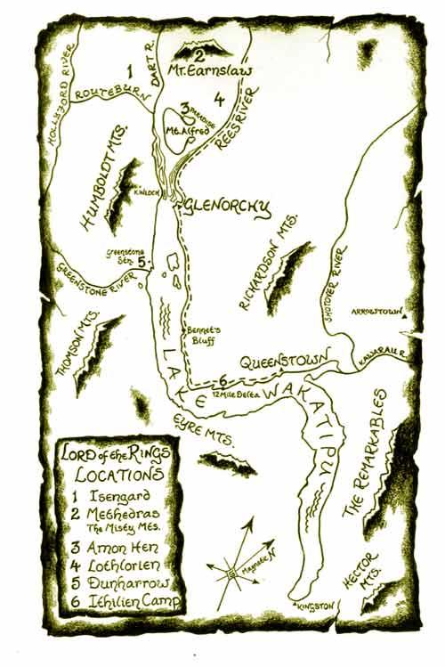 Localizaciones de El Señor de los Anillos en Glenorchy