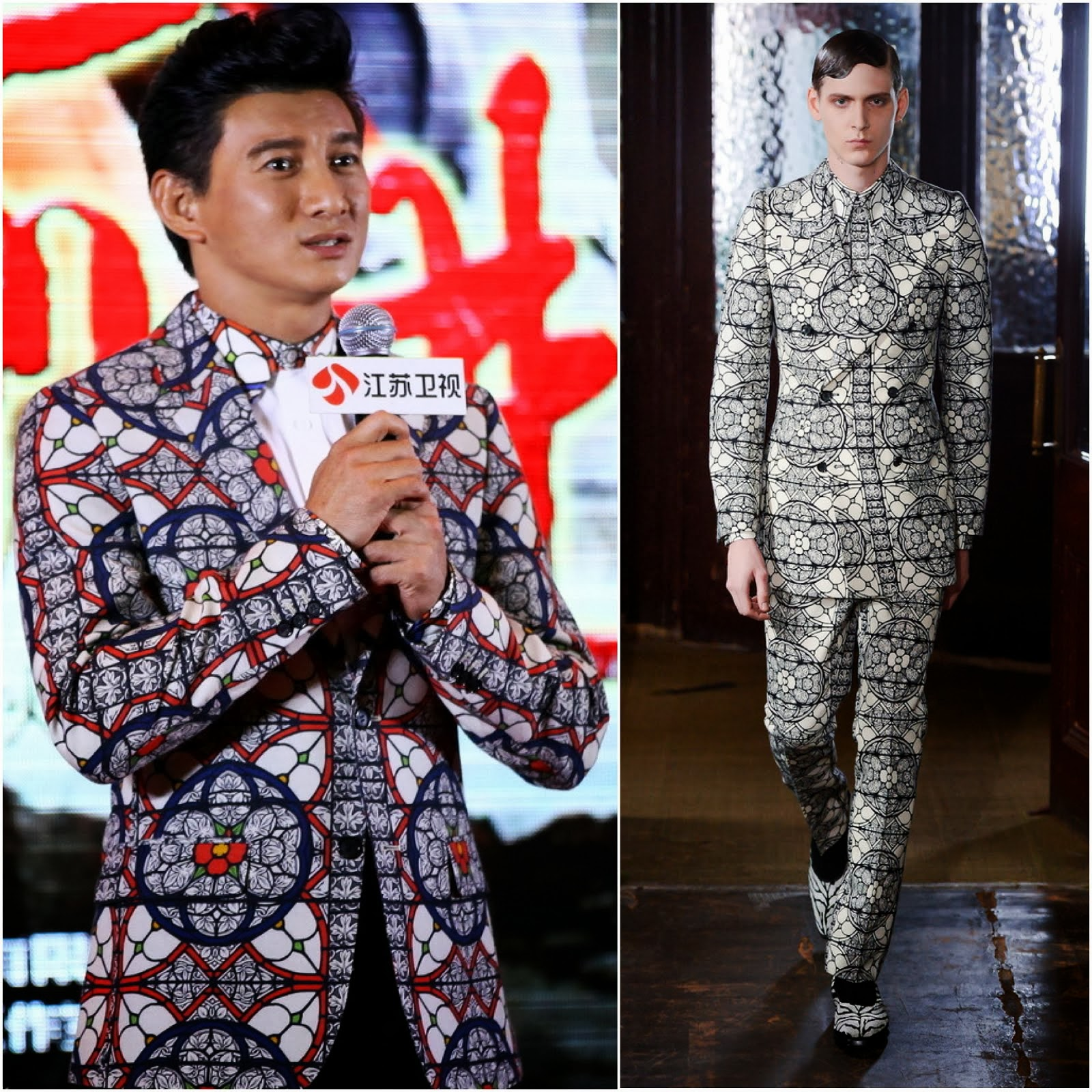 00O00 Menswear Blog: Nicky Wu [吴奇隆] in Alexander McQueen - [向着胜利前进] Photocall