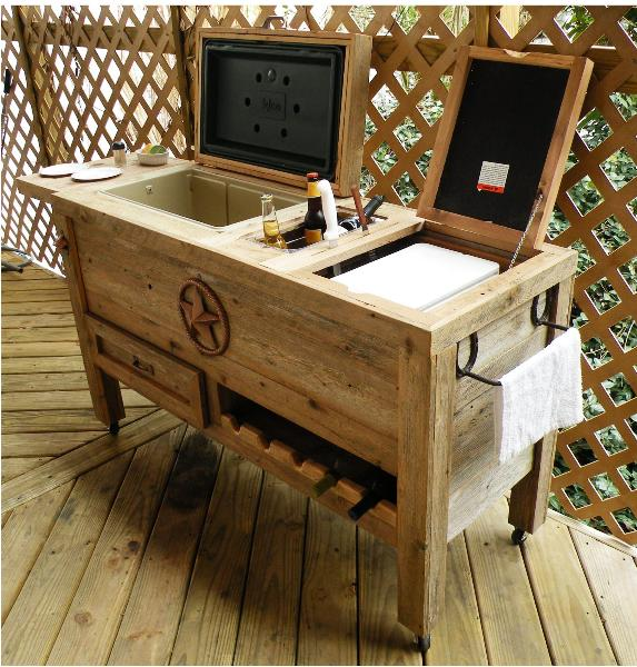 Wood Outdoor Ice Chest, Series Convection Heater And Shop Heater