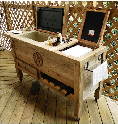 Wood Outdoor Ice Chest