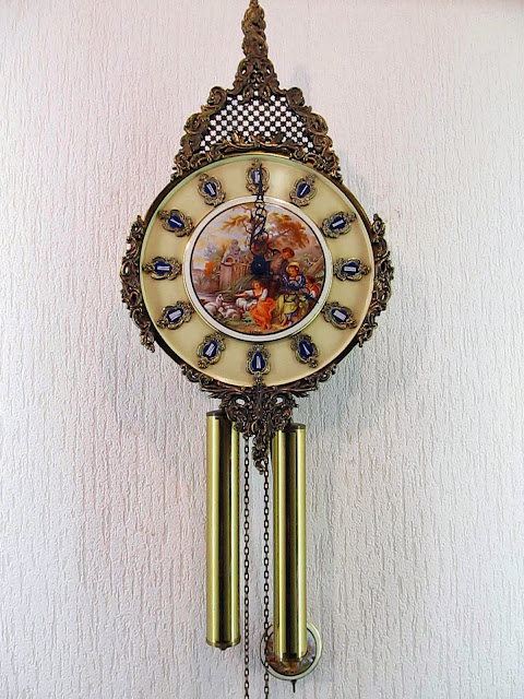 Old Wall Clock Made West Germany Schmeckenbecher Baroque