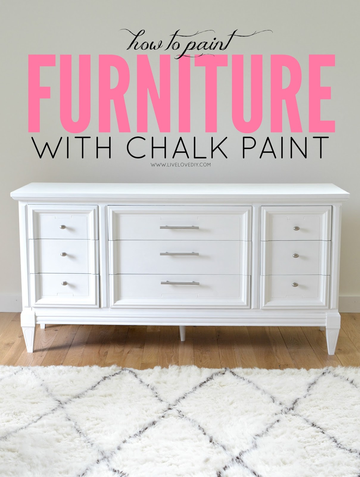 White Painted Furniture livelovediy: how to paint furniture with chalk paint (and how to