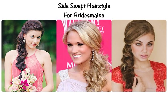 side swept hairstyles for bridesmaids