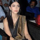 Sruthii Hassan in Black Saree att 7th Sense Audio Launch Pics