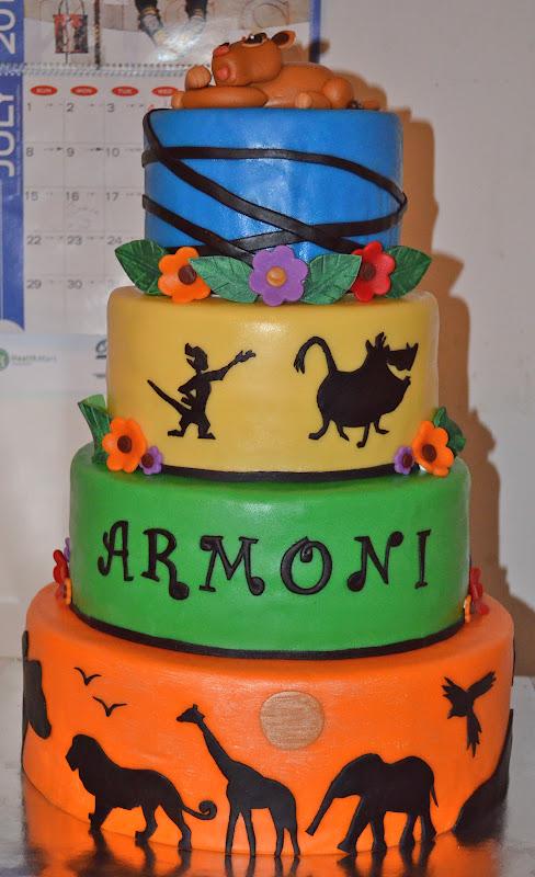 SweetCakeRN Lion King Baby Shower Cake