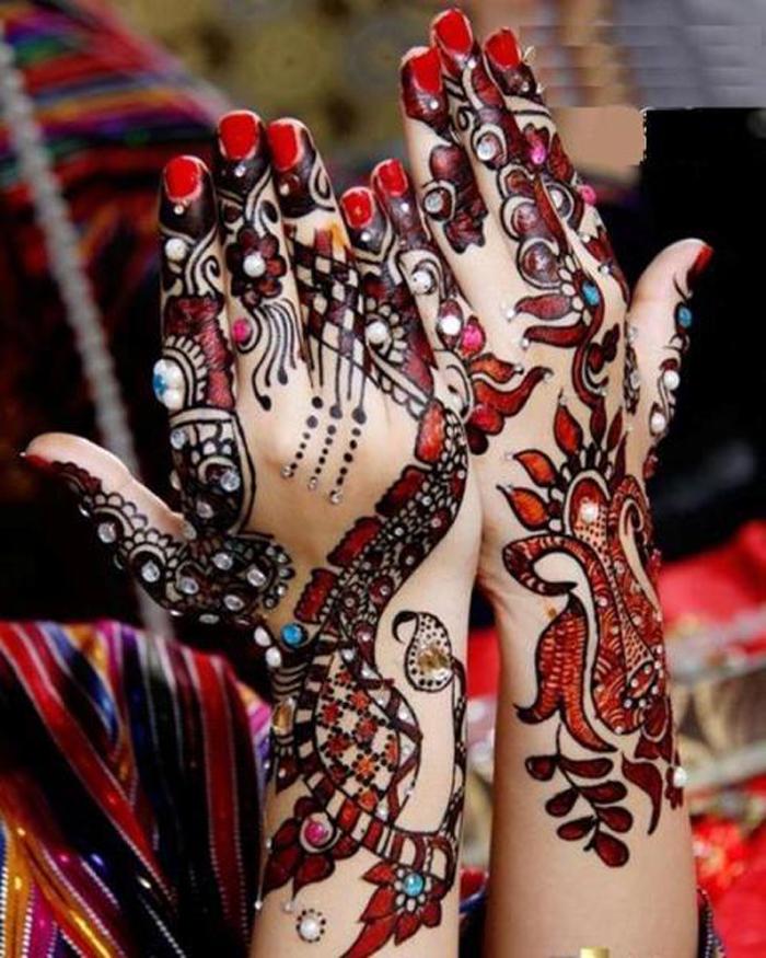 Mehndi Designs Colour : New fashion styles latest colour mehndi designs