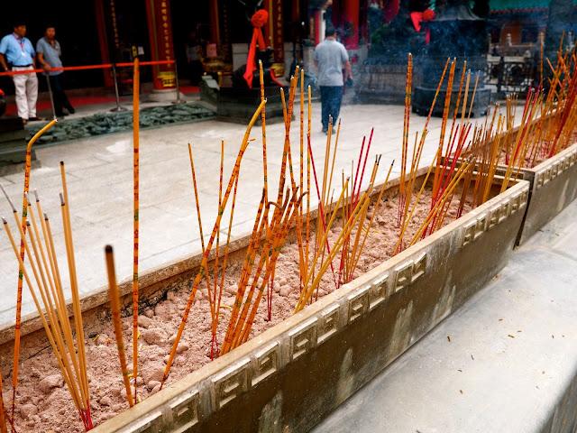 Incense sticks burning outside Sik Sik Yuen Wong Tai Sin Temple, Hong Kong