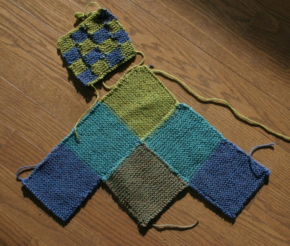 Knitting Pattern Slippers Squares : The Life of an Artist by Minaz Jantz Artgirlgallery.com: Knitting m...