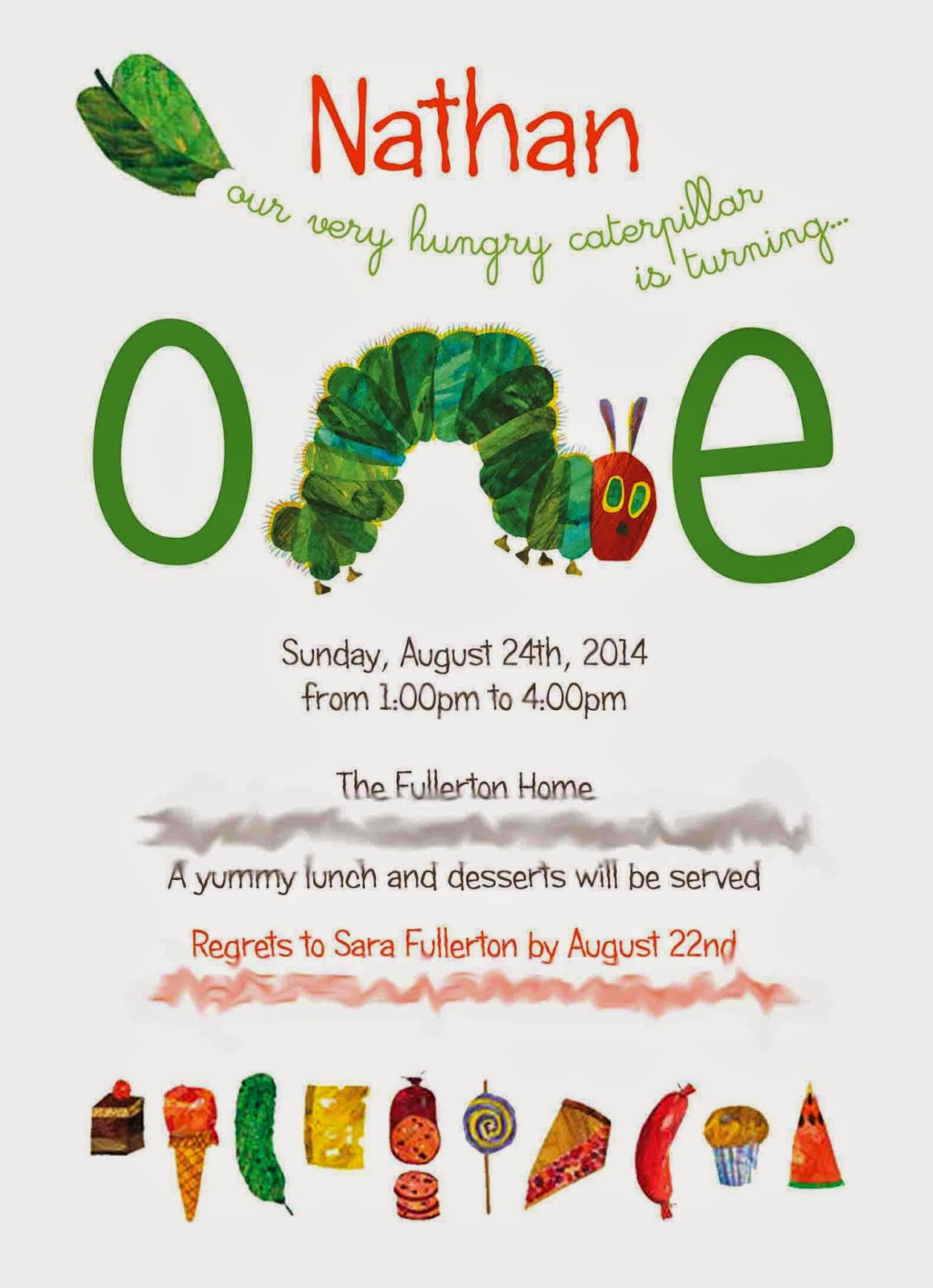 Little Rhody Girl: Nathan\'s Very Hungry Caterpillar Birthday Party