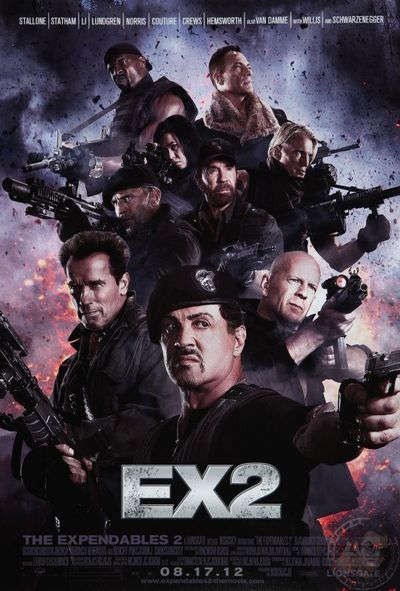 The Expendables 2, the poster, the real 2