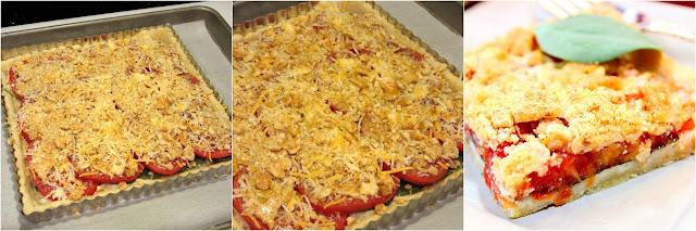 Tomato Spinach Tart with Cheesy Cornmeal Crust Recipe