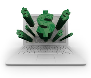 Online Business - Laptop and Dollar Symbol