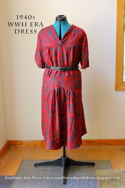 WWII Reenacting Dress Simplicity 1587