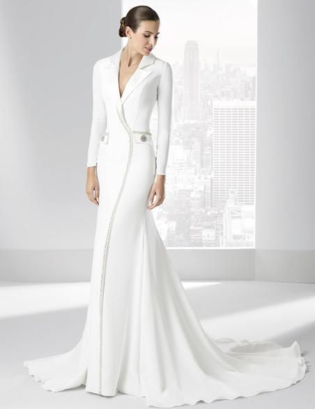 boda memorable: trajes de novia de inspiración masculina