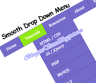 Add CSS3 Smooth Hover Effect Navigation Menu Bar for blogger