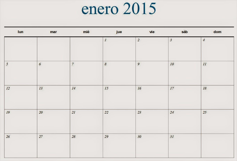 formatos de calendarios 2015