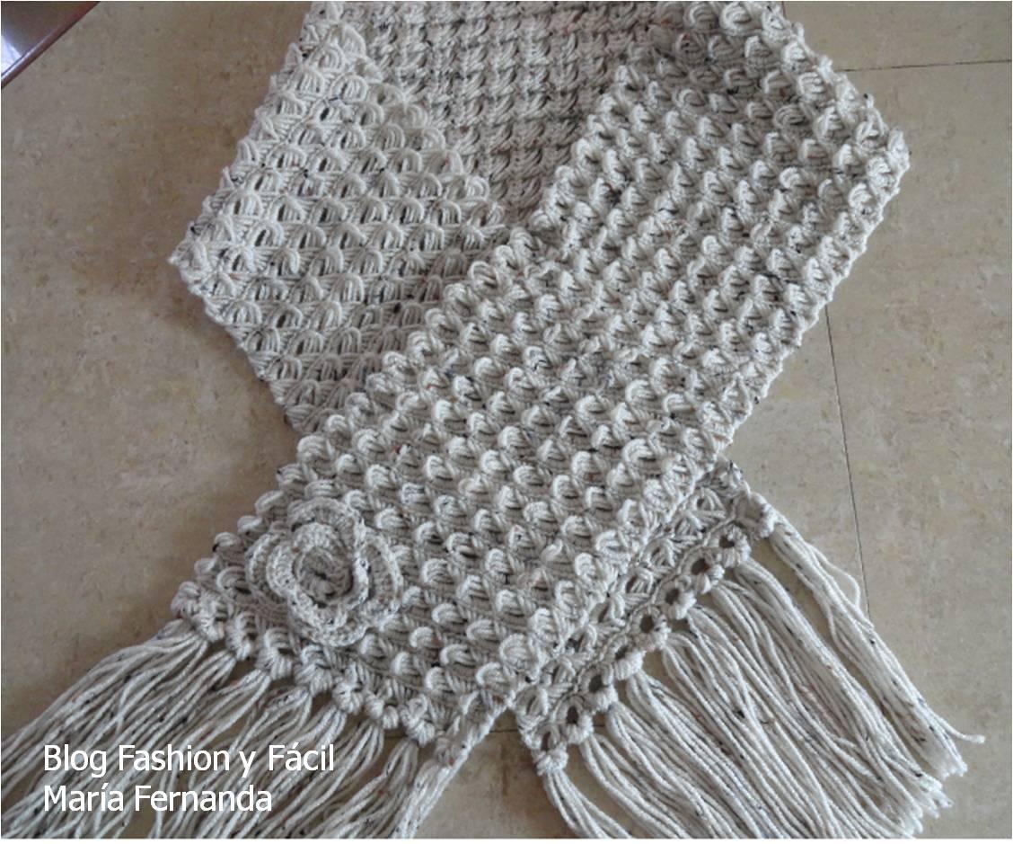 Para obtener una bufanda ancha,