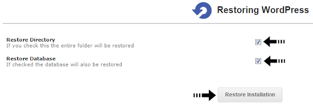 restore installation
