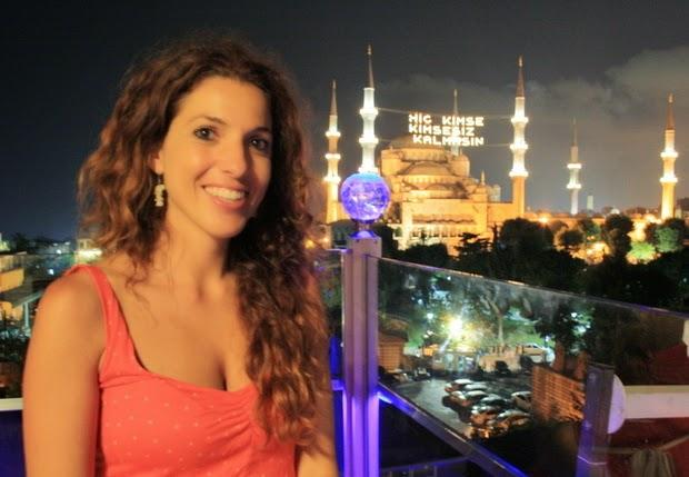 mezquita azul iluminada estambul
