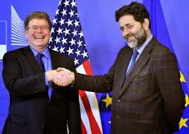Negociadores jefe del Tratado Transatlántico de Comercio  e Inversiones entre la Unión Europea y Estados Unidos