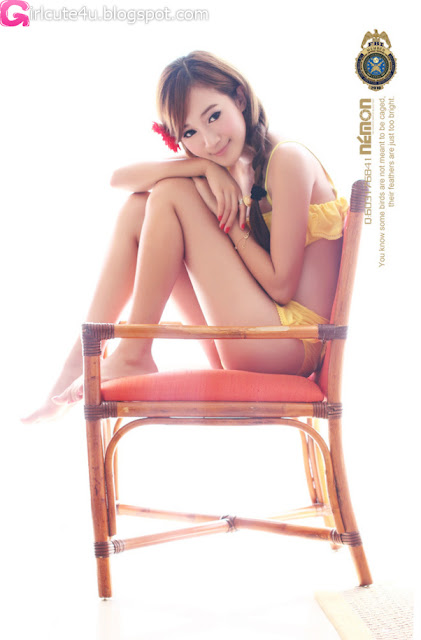 Sun-Xin-Ya-Yellow-Bikini-01-very cute asian girl-girlcute4u.blogspot.com