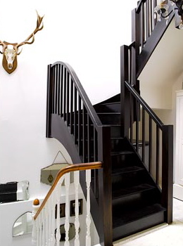 Exceptionnel Black Painted Staircase???