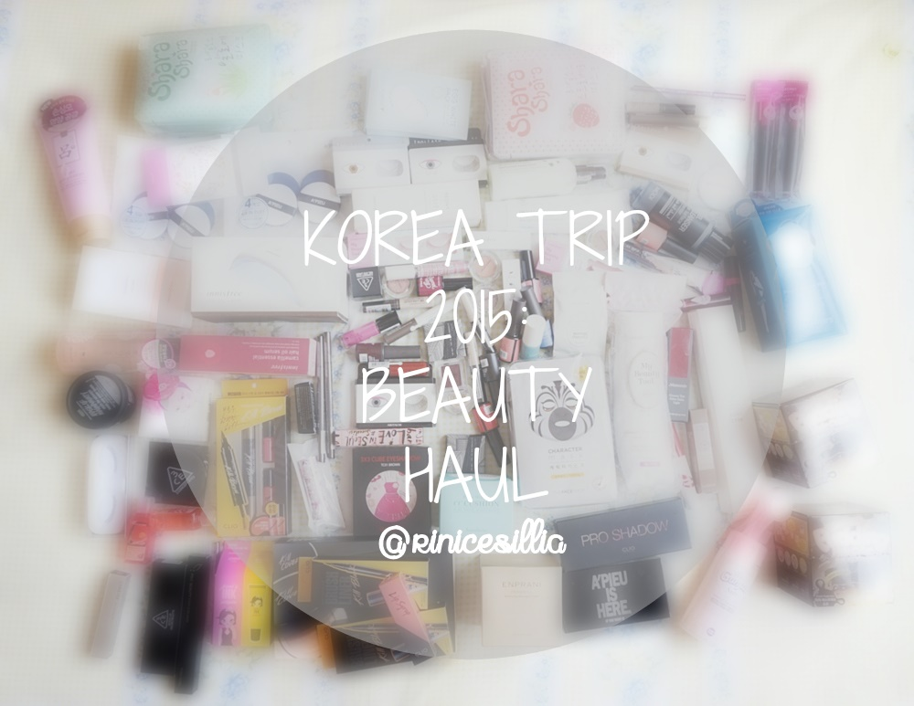 Korea Trip Makeup Haul