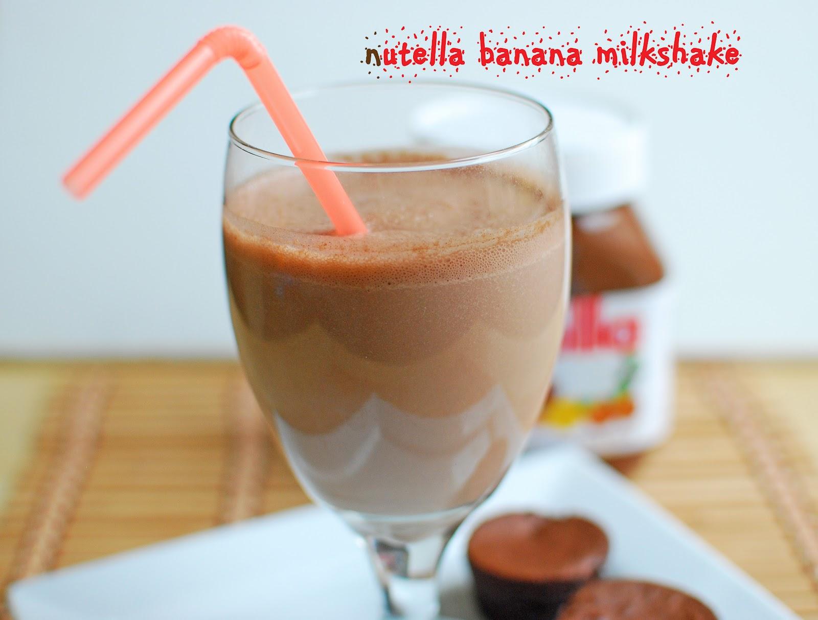 Nutella Banana Milkshake | Kid Friendly Drink ~ From My Home Kitchen
